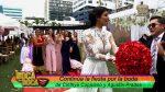 VIDEO   Cinthya Coppiano lanzó el ramo en su boda ¿Quién será la próxima novia?