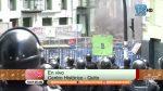 VIDEO | Manifestantes lanzan piedras y queman llantas en el centro histórico de Quito