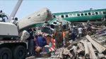 VIDEO | Terrible choque de trenes cobra vidas y deja decenas de heridos en Pakistán