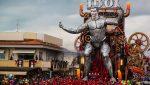 VIDEO | Un robot gigante de Cristiano Ronaldo se convierte en la estrella de un carnaval