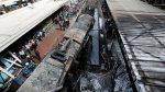 Momento exacto de la explosión del tren en Egipto