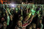 VIDEO: récord de luces denuncia violencia contra la mujer en Colombia