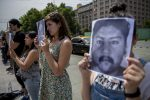 VIDEO: protestan con imagen de mapuche chileno muerto en operativo