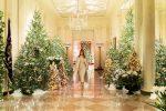 VIDEO | Melania Trump muestra las lujosas decoraciones de Navidad que hizo en la Casa Blanca
