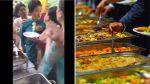 VIDEO |  Dos invitadas a una boda se pelean porque una cogió demasiada comida