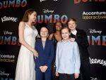 Angelina Jolie y sus enormes hijos roban la atención en la premiere de Dumbo