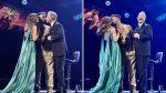 VIDEO | Así se dio el doble beso que dio Ricky Martin a los presentadores de Viña del Mar