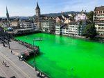 FOTOS | Alarma en Suiza por río que se puso verde
