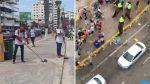 Imágenes del antes y después de Salinas tras las mingas de limpieza