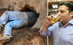 FOTO: construye un túnel desde su casa al bar para escapar de su esposa