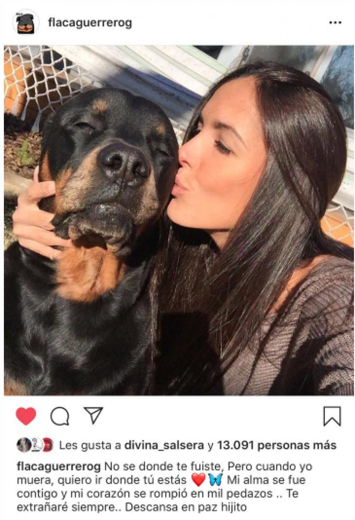 """La """"Flaca"""" Guerrero puso una nota de dolor por Milos"""