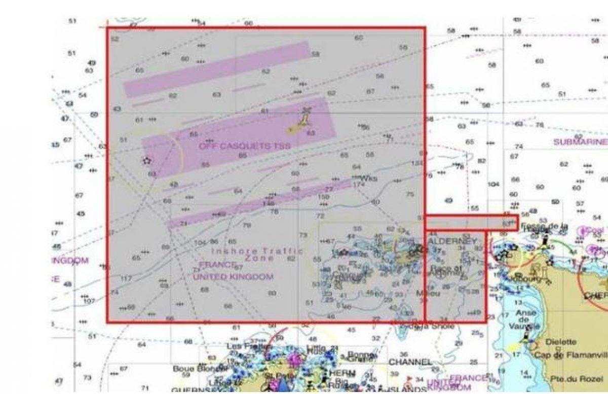 El área específica donde se cree que tienen más probabilidades de encontrar algo (EFE/ Guernsey Police)
