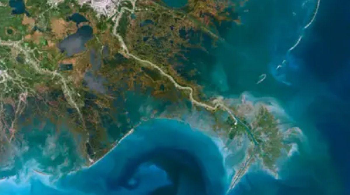 El río Mississippi (la imagen muestra su delta) es el más grande y poderoso de los Estados Unidos.