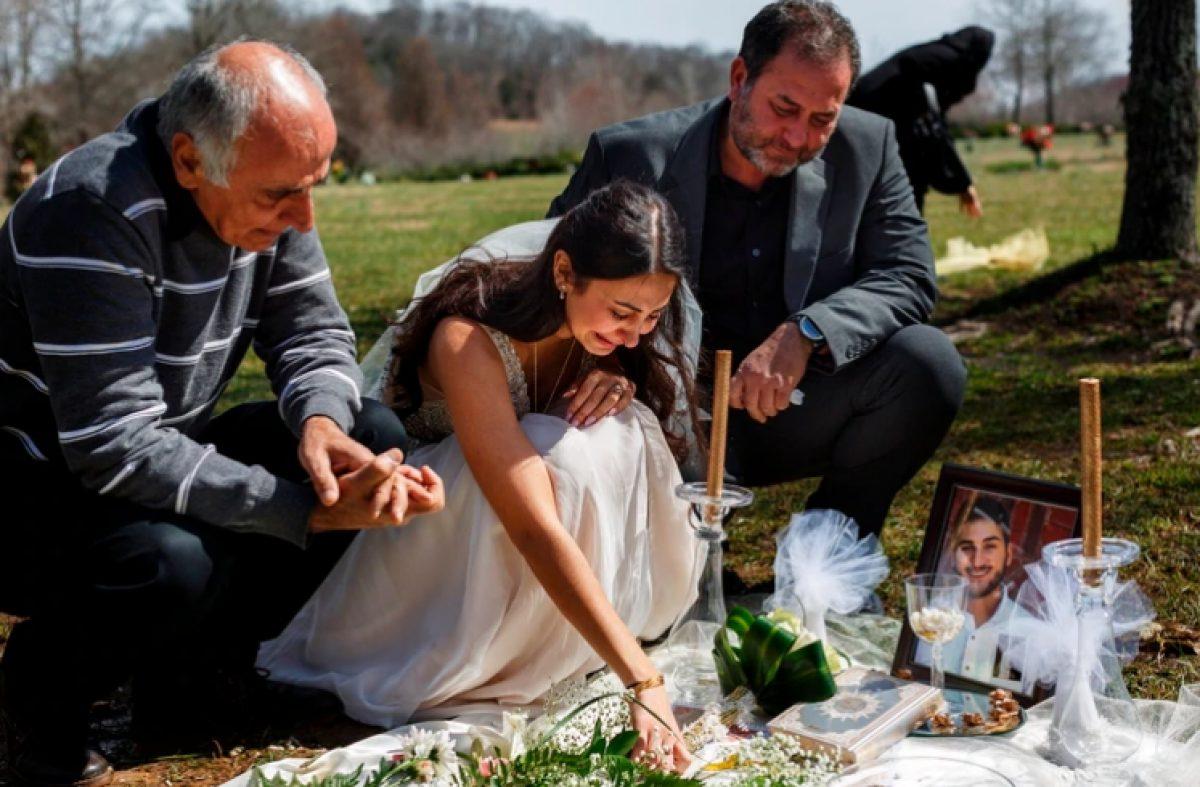 La joven se despidió del amor de su vida el día que se casaría