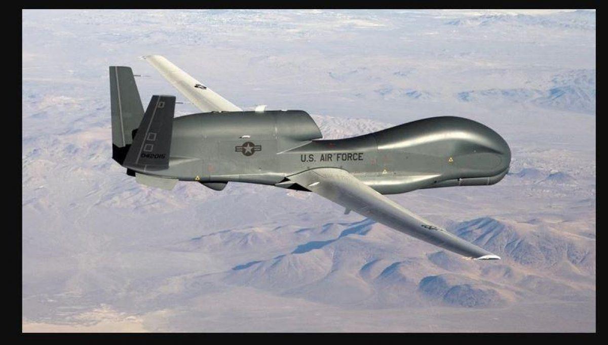 Un drone de vigilancia RQ-4, similar al derribado por Irán (Foto: Fuerza Aérea/Archivo)