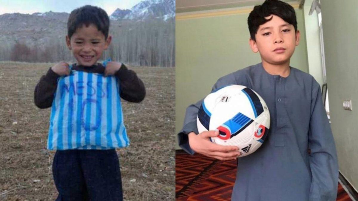 En 2016 fue fotografiado con una camiseta fabricada con una bolsa de plástico con la selección argentina y el nombre de Messi. Actualmente, a sus diez años, huye con su familia de los ataques talibanes.
