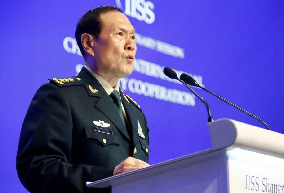 El General Wei Fanghe, Ministro de Defensa Nacional chino, en Singapur.