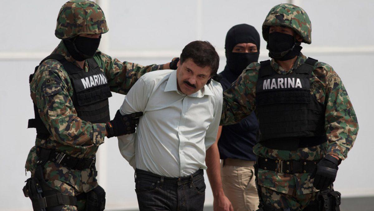 Joaquín Guzmán capturado en Sinaloa, el 22 de febrero de 2014, Ciudad de México.