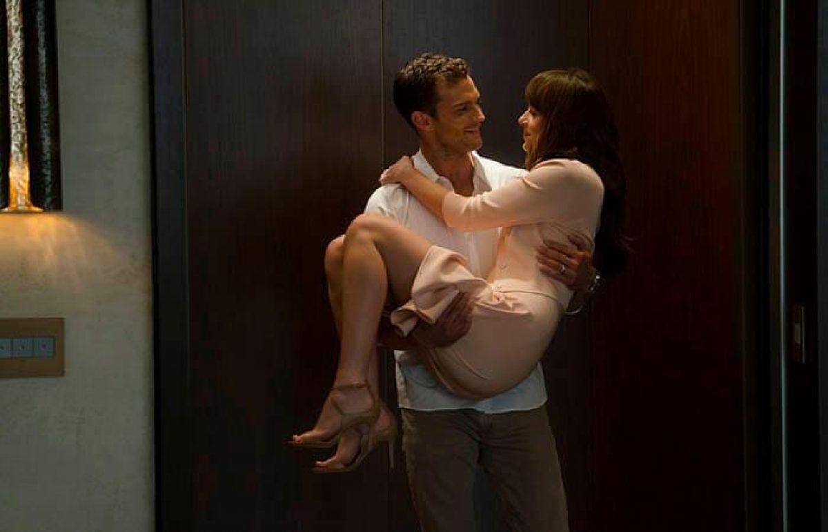 """Anastasia Steele y Christian Grey personajes de la pelicula """"50 sombras liberadas"""""""