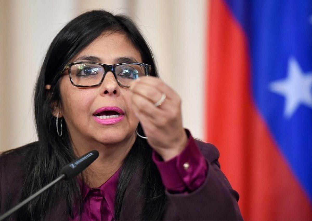 La vicepresidenta Delcy Rodríguez anunció la suspensión de las clases y de la jornada laboral