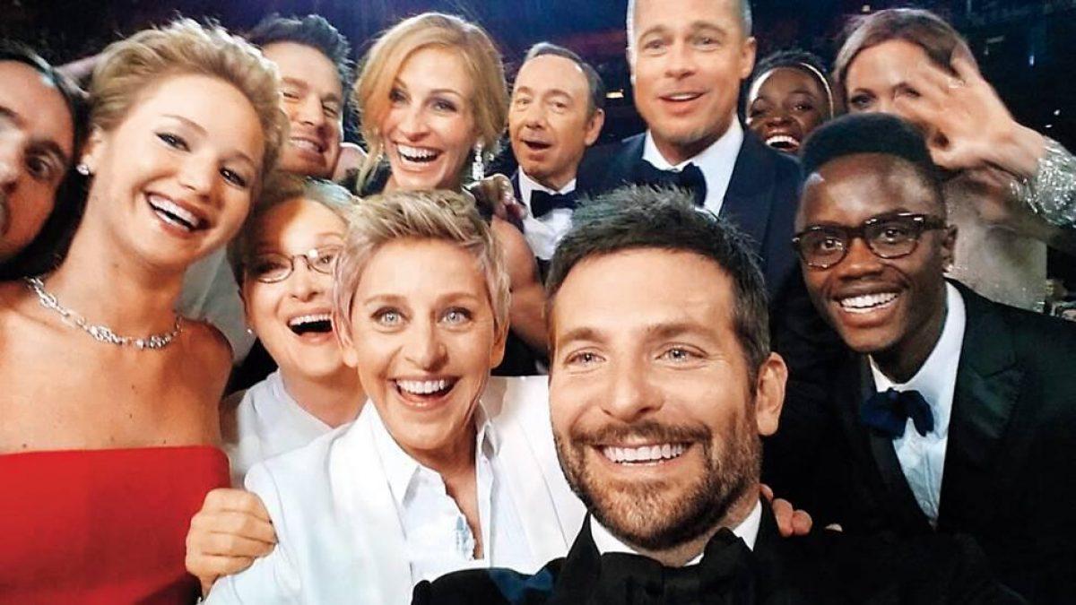 Ellen DeGeneres, Bradley Cooper, Kevin Spacey,  Penélope Cruz, Angelina Jolie, Brad Pitt, Jennifer Lawrence, Lupita Nyong'o y Jared Leto.