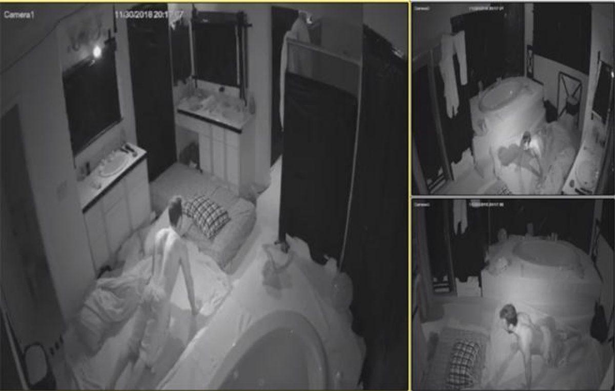 Una productora se interesó en el reto antes de que diera comienzo y por eso el baño contaba con varias cámaras de visión nocturna.