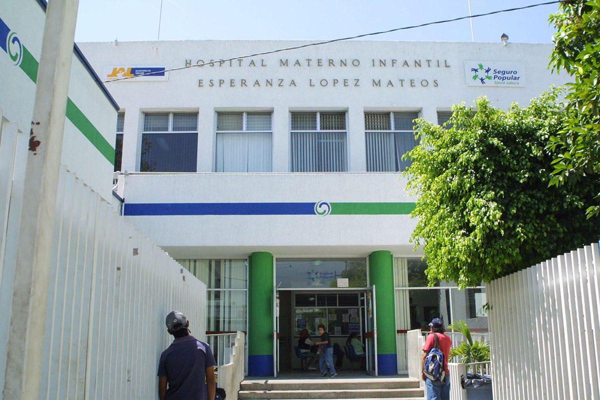 """Hospital Materno Infantil Esperanza López Mateos, conocido como """"la Máter"""", que se ubica en Guadalajara."""