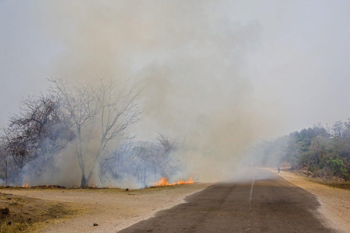 Un incendio en Zambia, 25 de agosto de 2019