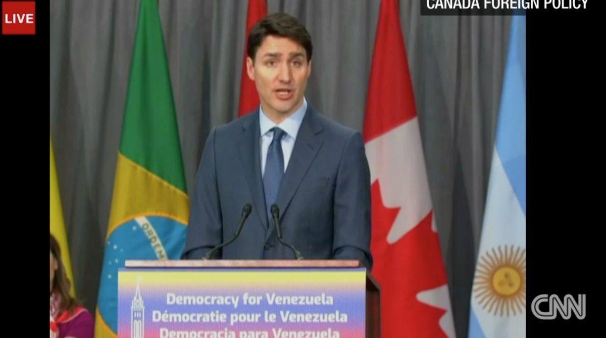 Justin Trudeau, primer ministro de Canadá, abrió la reunión del Grupo de Lima.