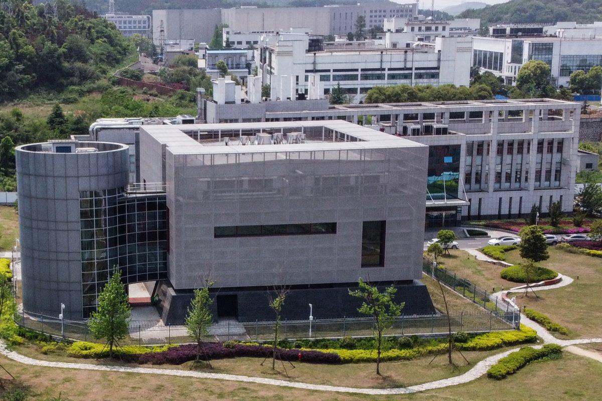 Una vista aérea muestra el laboratorio P4 en el Instituto de Virología de Wuhan en Wuhan, en la provincia central de Hubei de China. (Hector RETAMAL / AFP)